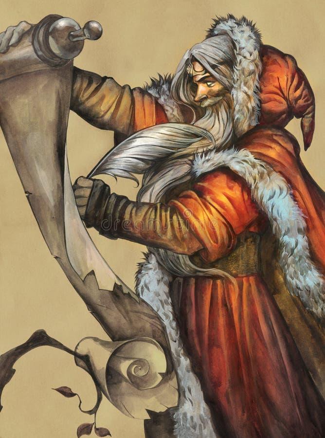 Ritratto di una fantasia Santa Claus illustrazione di stock