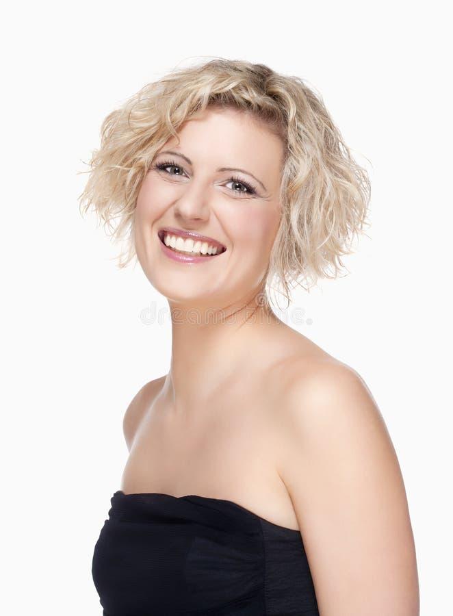 Ritratto di una giovane donna con capelli biondi immagini stock libere da diritti