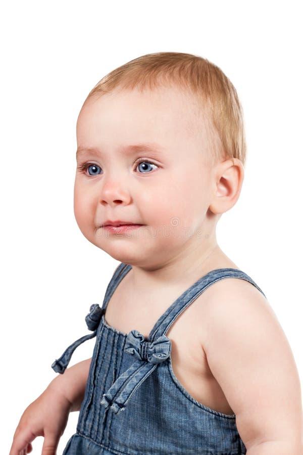 Ritratto di una neonata gridante fotografia stock libera da diritti