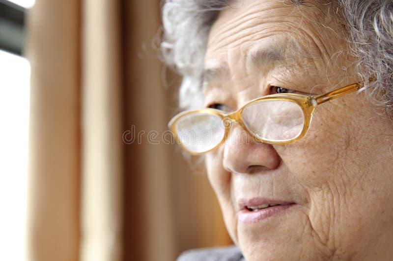 Ritratto di una nonna fotografie stock