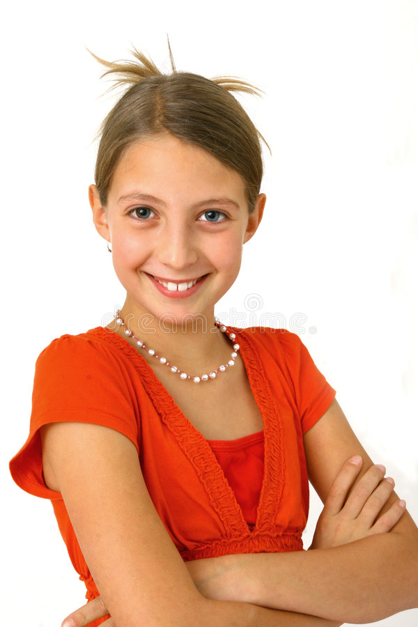 Download Ritratto di una ragazza immagine stock. Immagine di atteggiamento - 7305949