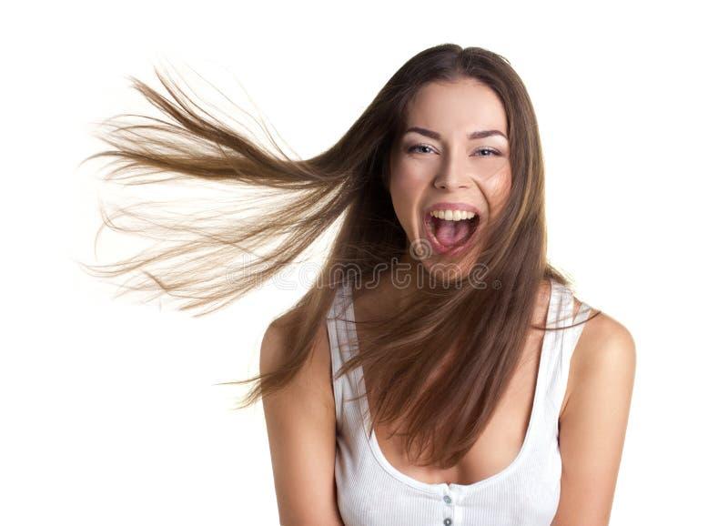 Ritratto di una ragazza felice fotografia stock libera da diritti