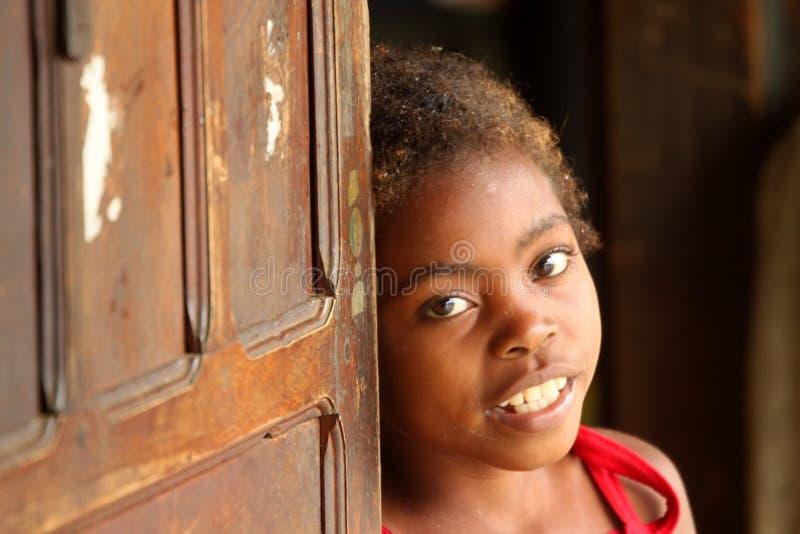 Ritratto di una ragazza malgascia immagine stock libera da diritti
