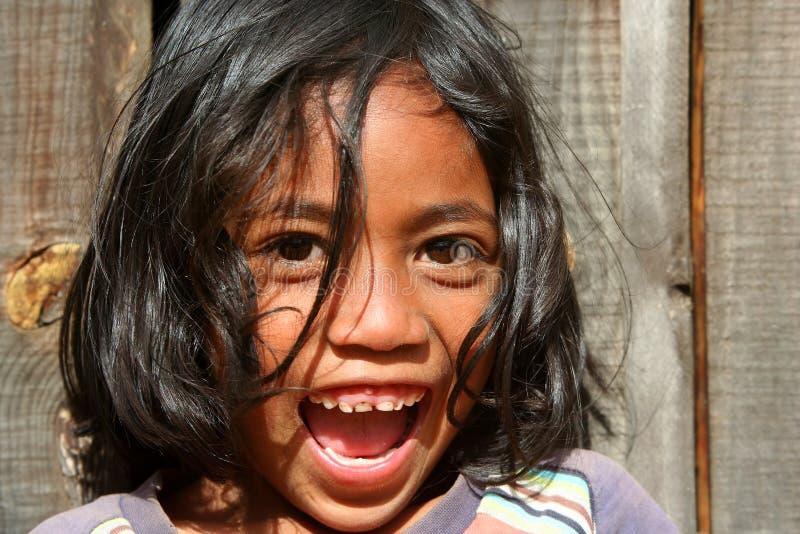 Ritratto di una ragazza malgascia fotografia stock libera da diritti