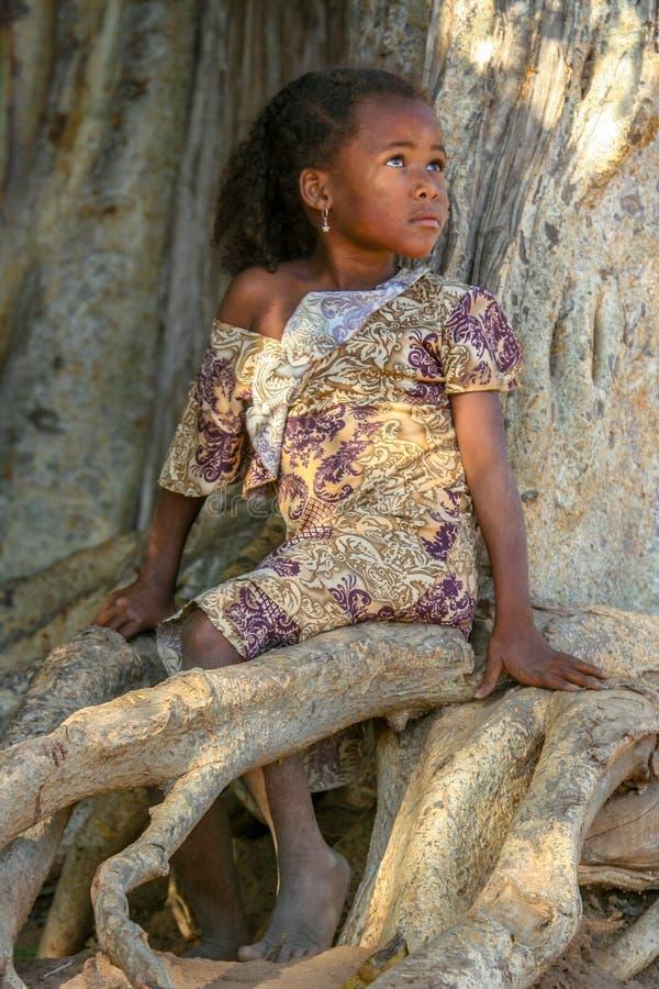 Ritratto di una ragazza malgascia fotografie stock