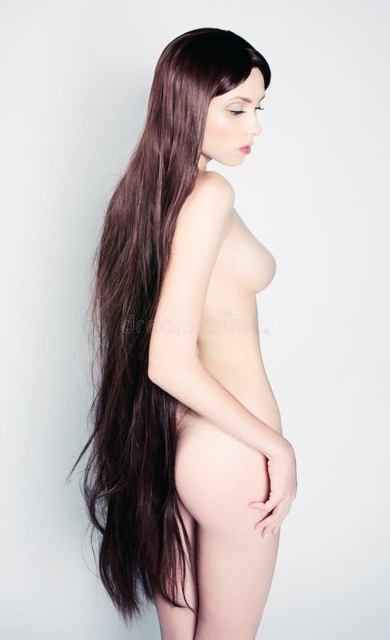 Ritratto di una ragazza nuda fotografia stock libera da diritti