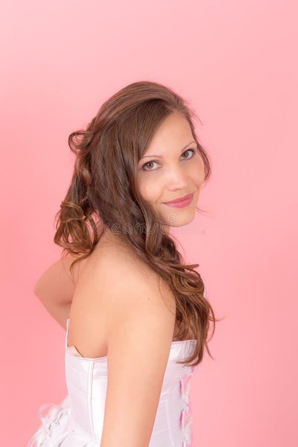 Ritratto di una ragazza sorridente fotografia stock - Colorazione immagine di una ragazza ...