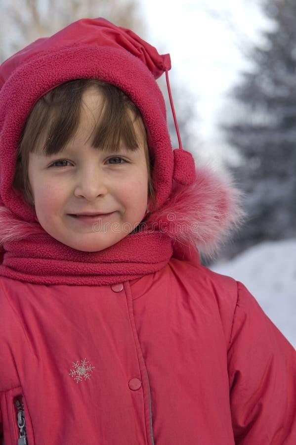 Ritratto di una ragazza in vestiti di inverno immagini stock