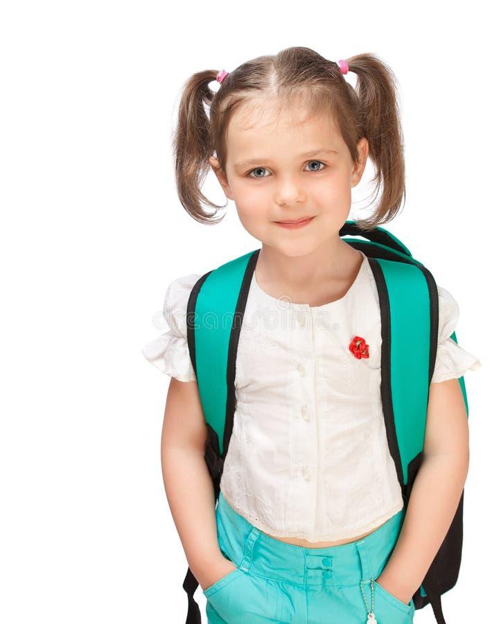 Ritratto di una scolara della ragazza immagine stock libera da diritti
