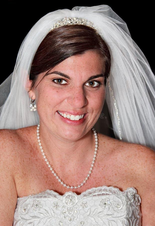 Ritratto di una sposa fotografie stock