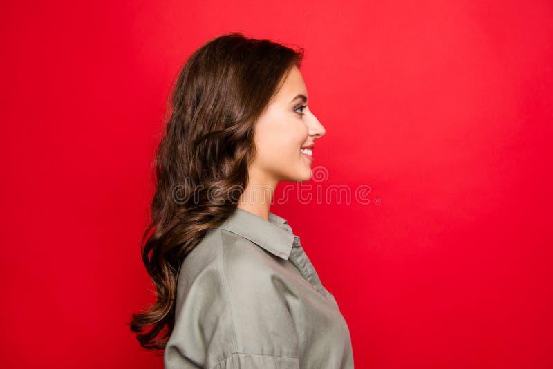 Ritratto di vista laterale di profilo di bello, attraente, grazioso, dre fotografie stock libere da diritti