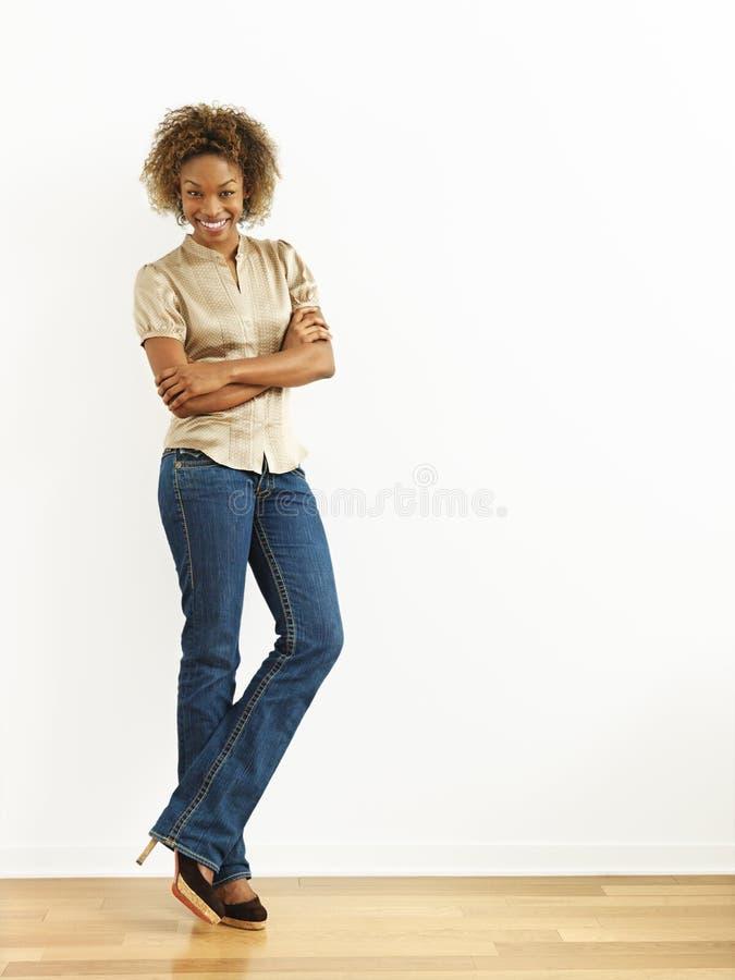 Ritratto domestico della donna fotografie stock
