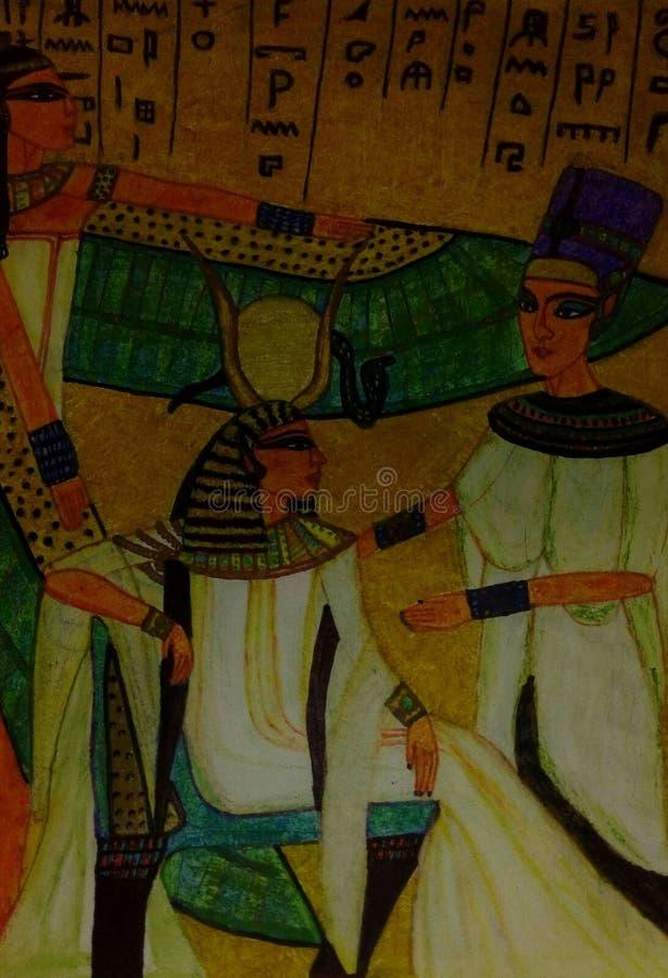 Ritratto egiziano di storia della regina immagine stock libera da diritti