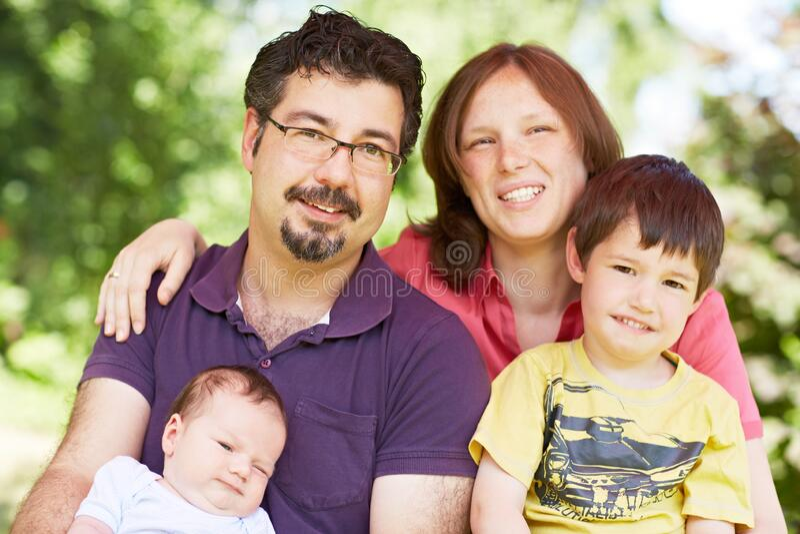 Ritratto familiare immagine stock