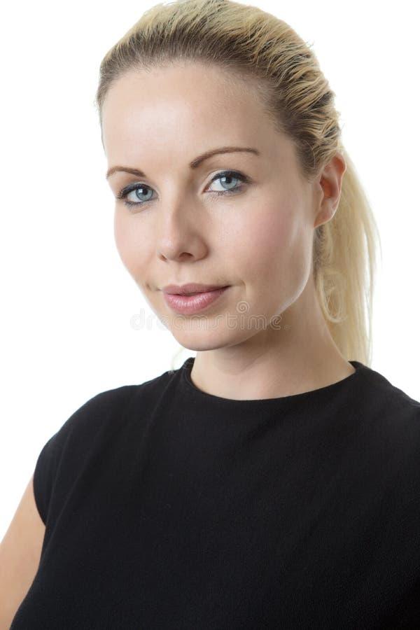 Ritratto felice della donna di affari fotografie stock libere da diritti