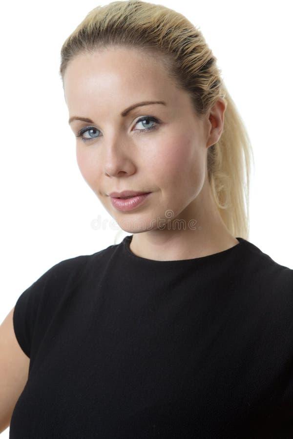 Ritratto felice della donna di affari immagine stock