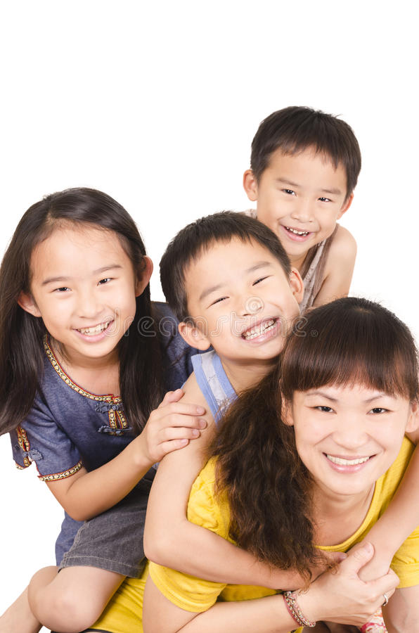 Ritratto felice della famiglia fotografie stock libere da diritti