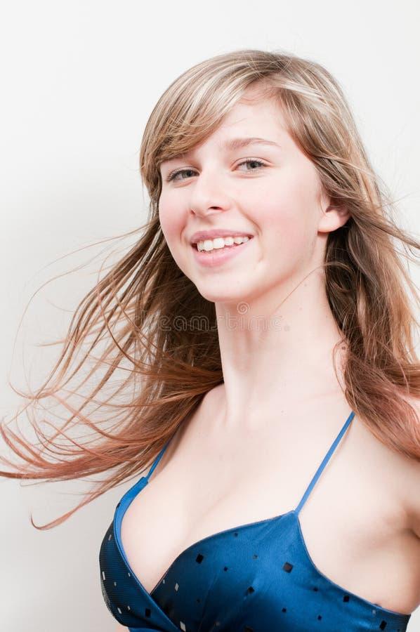 Ritratto felice della ragazza fotografia stock