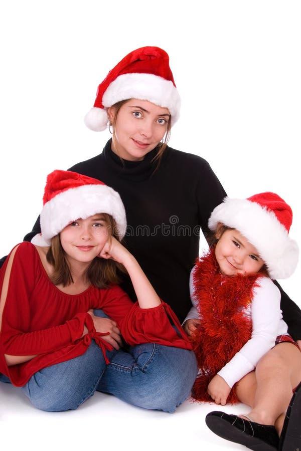 Ritratto festivo della famiglia. immagini stock