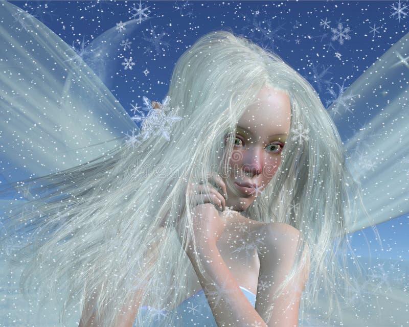 Ritratto freddo del Fairy di inverno illustrazione vettoriale