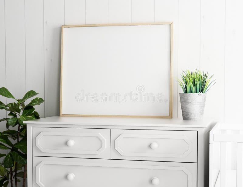 Ritratto illustrationVertical orizzontale del modello 3d PortraitVertical dello spazio in bianco della pagina del manifesto del p illustrazione di stock