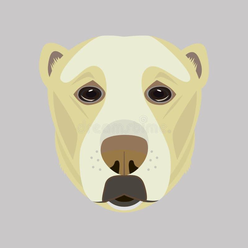 Ritratto illustrato vettore del pastore asiatico Dog royalty illustrazione gratis