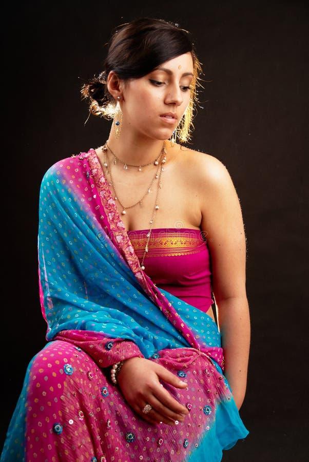 Ritratto indiano della donna immagini stock