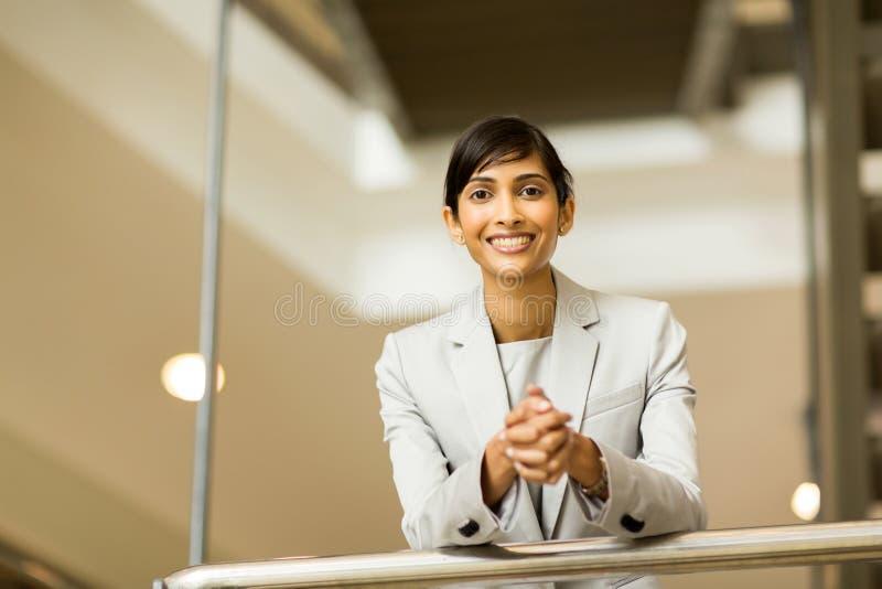 Ritratto indiano della donna di affari fotografia stock libera da diritti