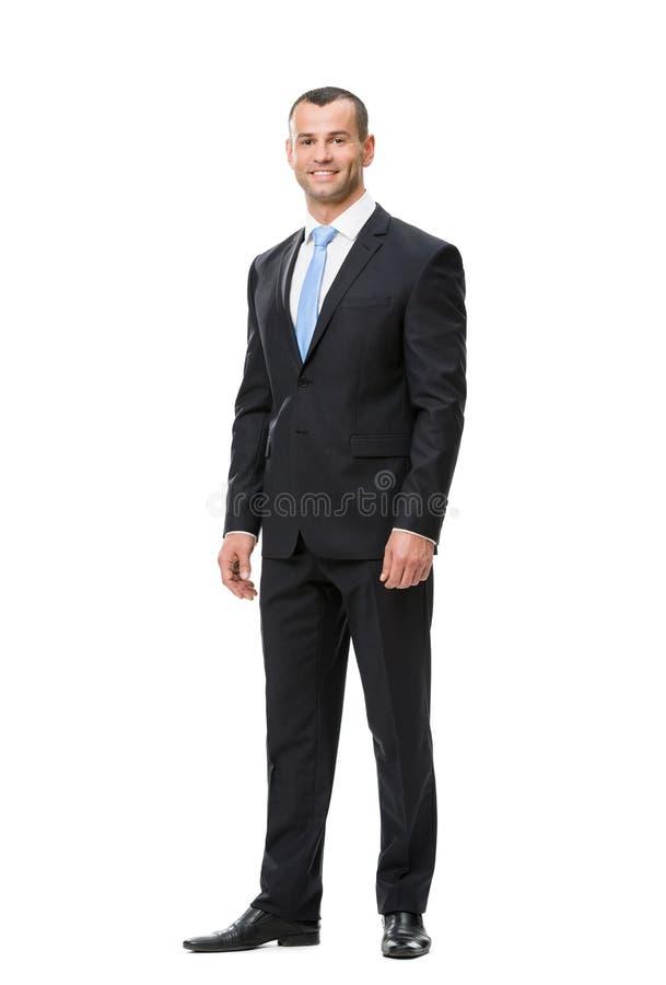 Ritratto integrale dell'uomo di affari immagine stock