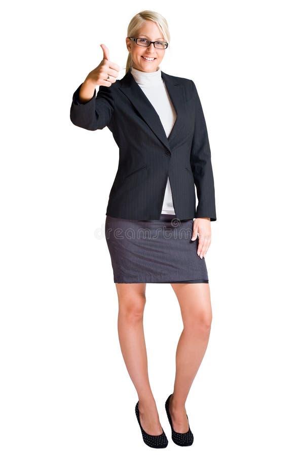 Ritratto integrale della donna bionda di affari. immagine stock libera da diritti