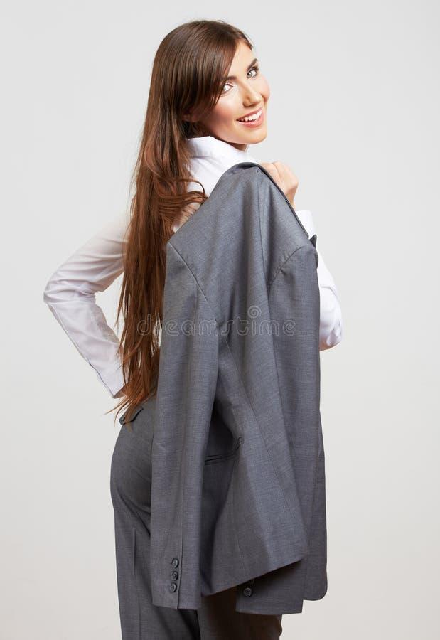 Ritratto isolato stile di modo della donna di affari St femminile del modello fotografie stock