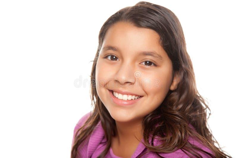 Ritratto ispanico grazioso della ragazza fotografie stock libere da diritti