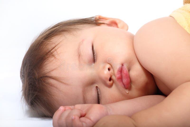 Ritratto luminoso del bambino addormentato adorabile fotografia stock libera da diritti