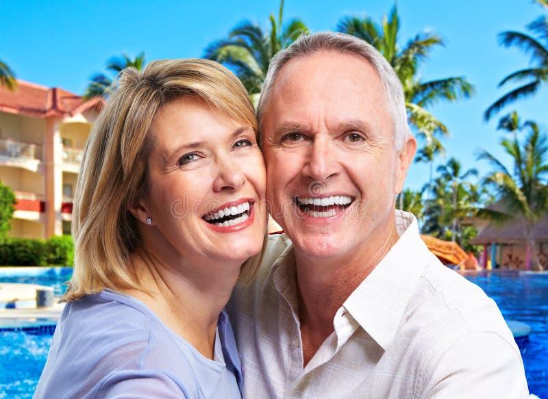 Ritratto maggiore felice delle coppie fotografia stock