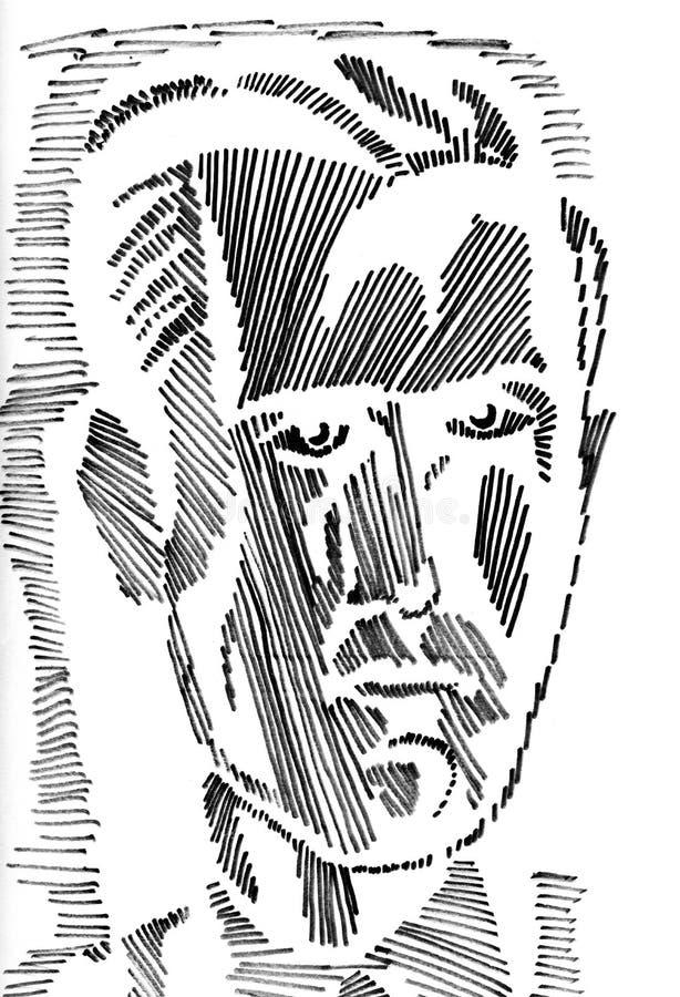 Ritratto maschio illustrazione vettoriale
