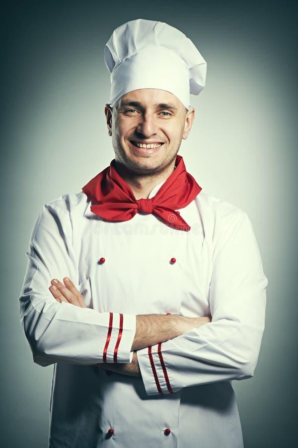 Ritratto maschio del cuoco unico immagine stock libera da diritti