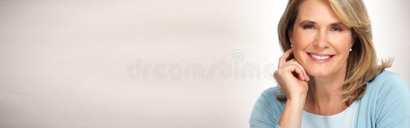 Ritratto maturo della donna fotografia stock libera da diritti