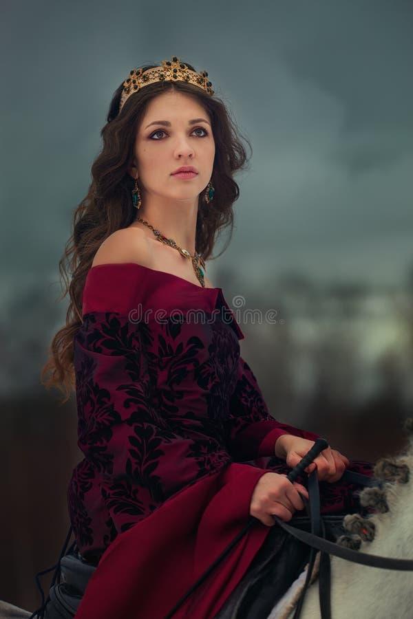 Ritratto medievale della regina fotografia stock libera da diritti