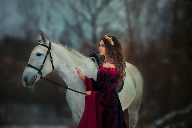 Ritratto medievale della regina fotografie stock