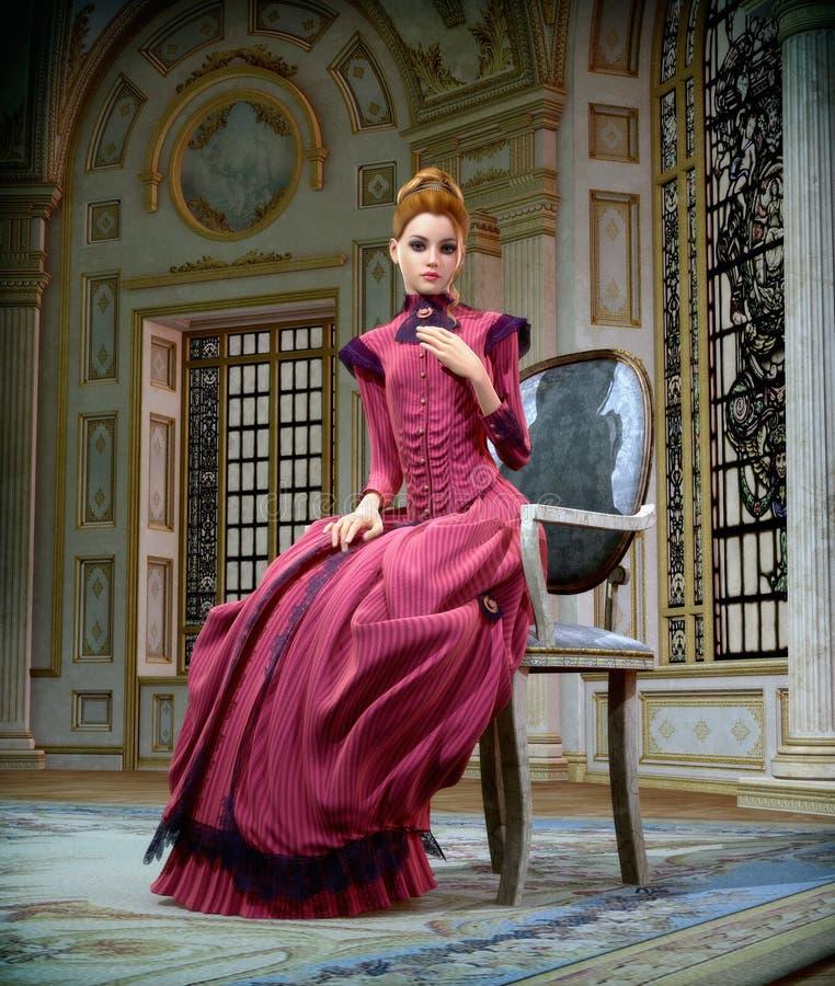 Ritratto nel rosa, 3d CG royalty illustrazione gratis