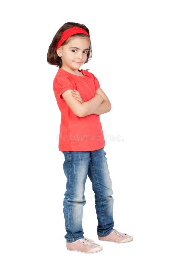 Ritratto piacevole di bella ragazza fotografie stock libere da diritti