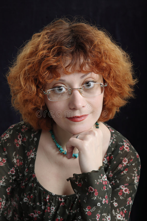 Ritratto premuroso di Redhead immagini stock