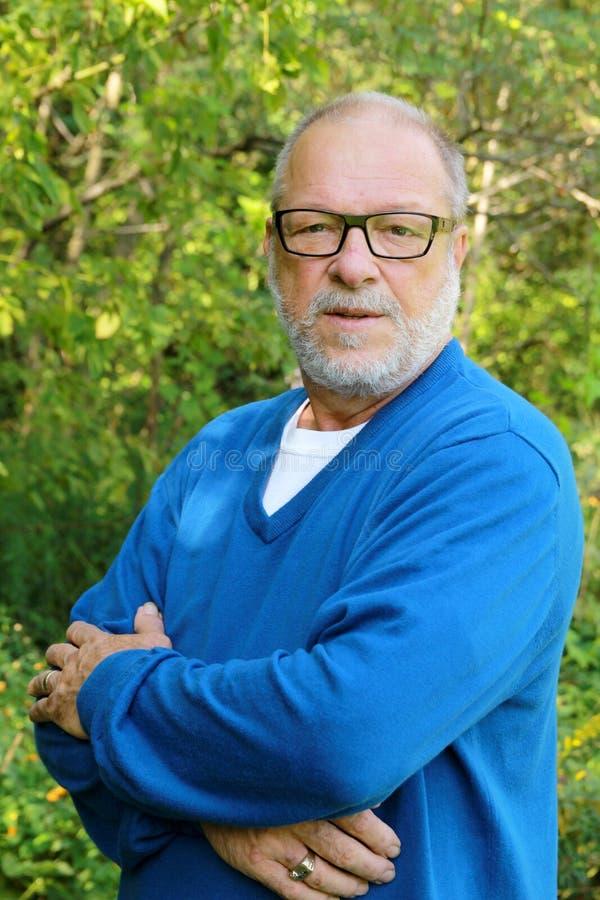 Ritratto senior fotografia stock