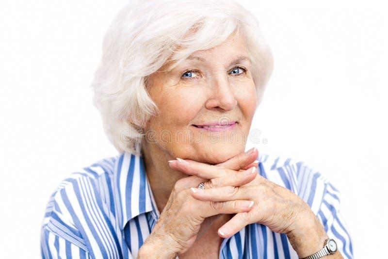 Ritratto senior della donna fotografia stock
