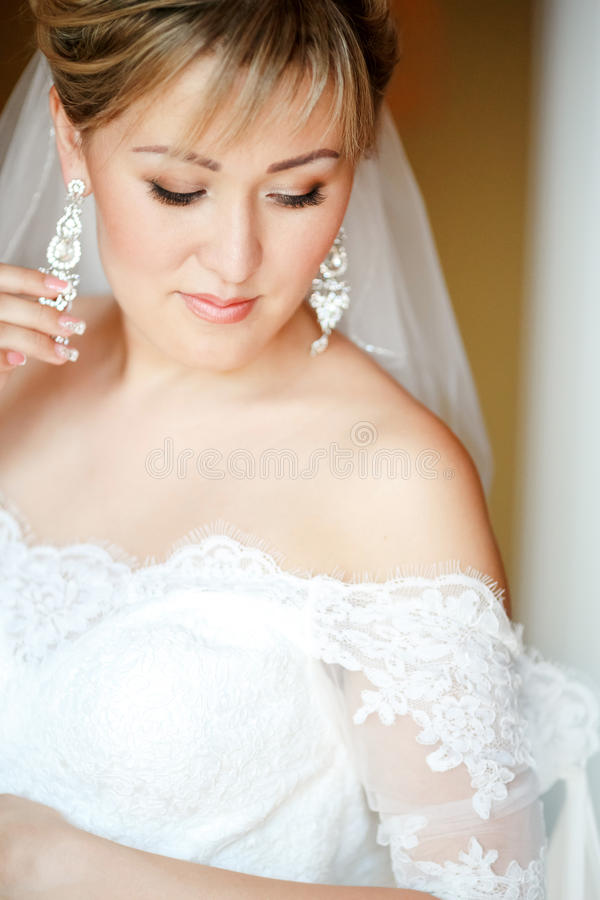 Ritratto sensuale della sposa immagine stock