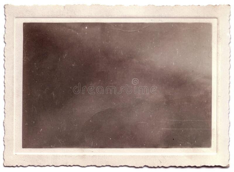 Ritratto smerlato della foto dell'annata soppressione fotografia stock libera da diritti