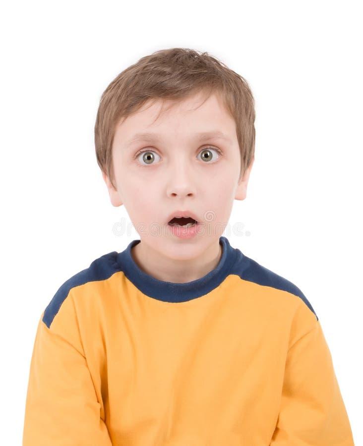 Ritratto sorpreso del ragazzo immagini stock
