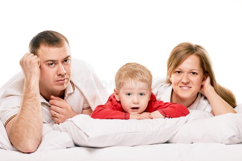 Ritratto sorridente della famiglia di felicità immagine stock libera da diritti