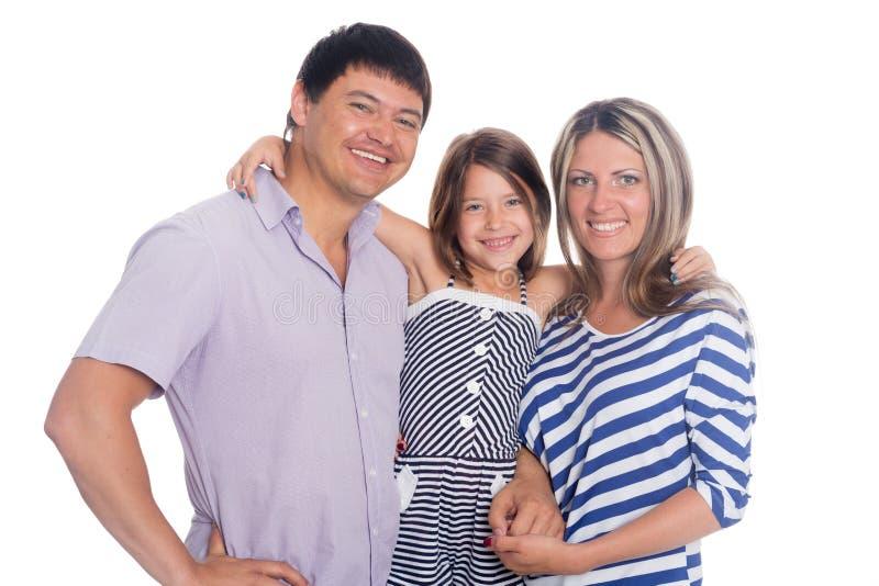 Ritratto sorridente felice della famiglia fotografia stock libera da diritti