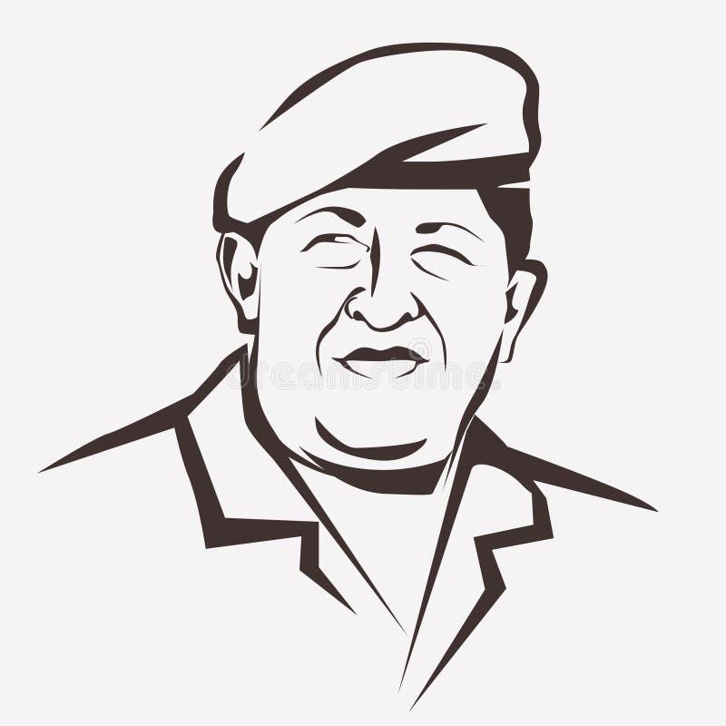 Ritratto stilizzato di vettore di Hugo Chavez
